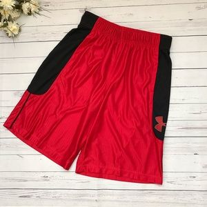 Red/Black Under Armour Basketball Shorts